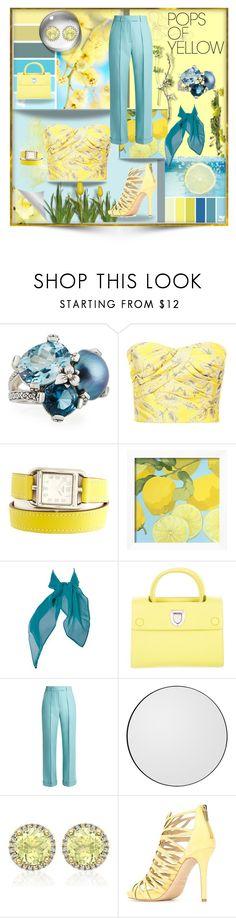 """Pops of Yellow"" by rgh1-977 ❤ liked on Polyvore featuring Stephen Dweck, Prada, Hermès, Seed Design, Christian Dior, Racil, AYTM, Kiki mcdonough, Jimmy Choo and PopsOfYellow"