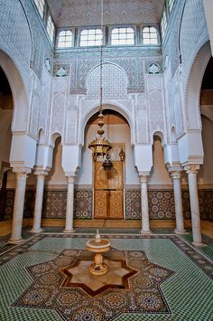 Meknes, Morocco. Mausoleum Moulay Ismail.