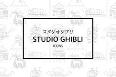 studio ghibli icons.I love ghibli and hayao's animation.