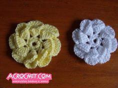 Una flor sencilla de cartuchos | Blog a Crochet - ACrochet