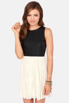Others Follow Wild Side Black and Cream Dress at LuLus.com!