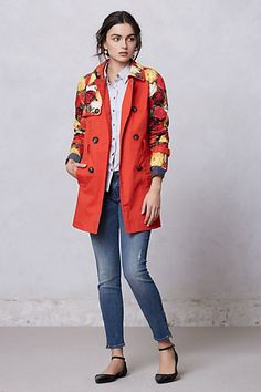 Blossom Sleeve Trench #Anthropologie