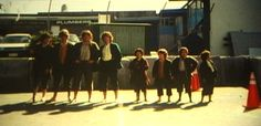 Full size Hobbits do a screen test with their scale doubles