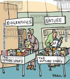 Biographies vs Nature   Bookish Comic