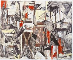 Lee Krasner (1908–1984). Untitled, 1984. A painting from 1950 was collaged with charcoal drawing fragments to create a new composition.