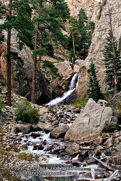 Boulder Falls, in Boulder Canyon CO