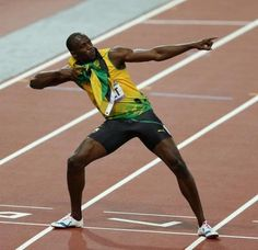 Usain Bolt was born in Trelawny, Jamaica on August He is 6 ft 5 inches in height – very tall for a sprinter. When he was a young, Usain spent his time playing and thinking about sport. He loved playing football and cricket. Usain Bolt Facts, Carl Lewis, Athlete Nutrition, Famous Sports, Fastest Man, Interesting Information, Sport Man, Track And Field, Olympic Games