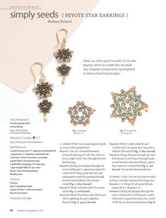 BEADWORK - Maite Omaechebarria - Picasa Web Albums Crochet Earrings, Beaded Jewelry Patterns, Beading Patterns, Make Your Own Jewelry, Jewelry Making, Diy Jewellery, Jewelery, Beading Tutorials, Seed Beads