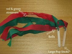 Christmas Dance Streamers | learning 4 kids