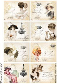 """рисовая бумага для декупажа """"парижская жизнь"""", арт. 106 - рисовая бумага"""