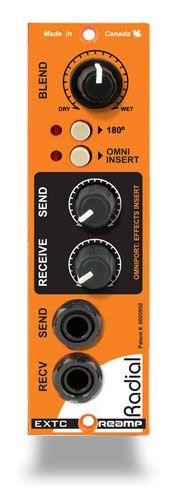 Radial EXTC™ Guitar Effects Interface - Módulo Serie 500 para hacer reamp e insertar un bucle con pedales de efectos para procesar señales de línea.