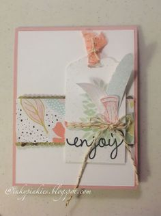 Stampin Up Spring Mini 2014 & Sale-A-Bration. Fine Feathers, Petal Parade, Simply Celebrate stamps. DSP: Sweet Sorbet from SAB. Inkypinkies.blogspot.com