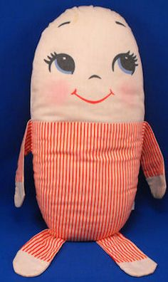 The doll I carried everywhere with me my Plakie Toy Humpty Dumpty Red White Stripe Pillow remember @Carol Redding