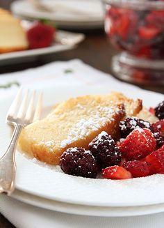Ricotta Pound Cake with Fresh Berries