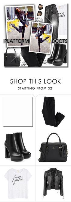 """""""Kickin' It: Platform Boots"""" by matildiwinky ❤ liked on Polyvore featuring H&M, Hogan, Kate Spade, Sundry and Boohoo"""