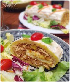 O melhor restaurante do mundo é a nossa Casa: Rocambole de batata com recheio de frango