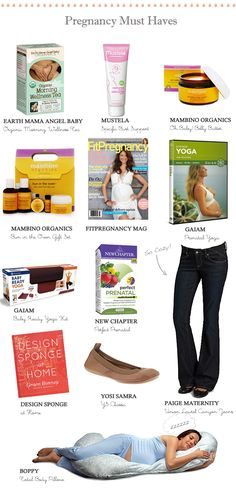 La Petite Peach_Prenancy Must haves. Have the mustela, bobby, jeans, & yoga. Need to check out the others!