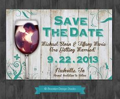 Save The Date Rustic Chabby Chic Theme by BrooklynDesignStudio on etsy.com