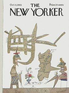 The New Yorker - Saturday, October 12, 1963 - Issue # 2017 - Vol. 39 - N° 34 - Cover by : Saul Steinberg