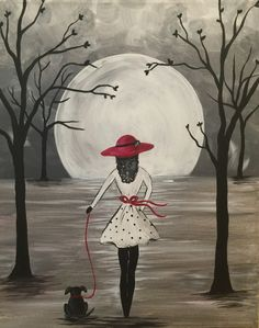 I am going to paint Girl's Best Friend at Pinot's Palette - Ellicott City to discover my inner artist! #hocoEvents