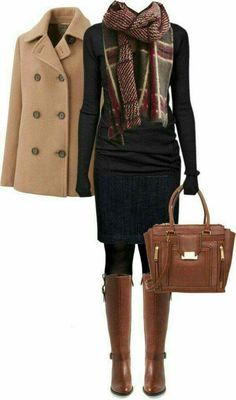 winter outfits scarf Cole Haan Boots Fall Winter O - winteroutfits Cute Office Outfits, Casual Outfits, Dress Casual, Outfit Office, Casual Shoes, Chique Outfits, Outfits With Boots, Winter Office Outfit, Office Boots