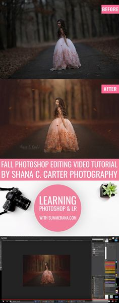 Fall Photoshop Editing Video Tutorial by Shana C. Carter Photography - Fall Photoshop Editing Video Tutorial by Shana C. Carter Photography - Shana, who is a family, senior, and fine art child photographer located in East. Photoshop Tutorial, Actions Photoshop, Photoshop Face, Photoshop Actions For Photographers, Learn Photoshop, Funny Photoshop, Photoshop Photos, Photoshop Photography, Photography Tutorials