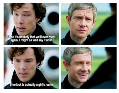 That's why Mary wouldn't let John name the baby, she was afraid he'd somehow name it after Sherlock.