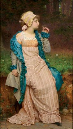 Charles Edward Perugini - He Loves Me, He Loves Me Not