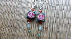 Peace love & a little bling earrings by valkirytails on Etsy, $12.00