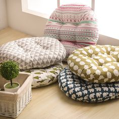 Home & Garden Cheap Price Ins Fashion Round Cotton Cushion Pillow Winter Office Bar Chair Back Seat Cushions Sofa Pillow Buttocks Chair Cushion R 40cm