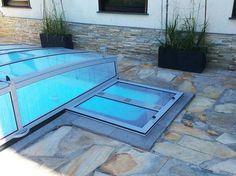 Abdeckung Stufeneingang beim Pool