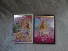 2 Barbie DVDs Rapunzel & Nutcracker