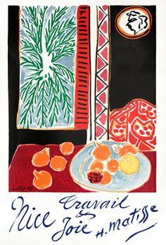Matisse, Henri poster: Nice Travail & Joie - H. Matisse