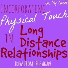 Physical touch is important to every #relationship.  Here's how to keep the spark alive in long distance ones.  #ldr #longdistance