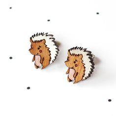 hedgehog earings