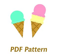 Ice Cream Cone Applique PDF Pattern  Quilt by NewEnglandQuilter, $1.50