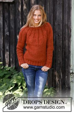 Ravelry: Clemence pattern by DROPS design Drops Design, Sweater Knitting Patterns, Knit Patterns, Free Knitting, Icelandic Sweaters, Cable Sweater, Work Tops, Jumper, Do It Yourself