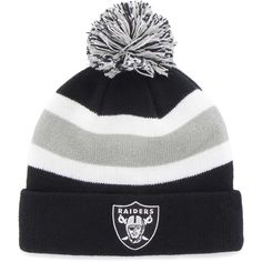 2127ae8f5 Details about Raiders New Era NFL TEAM RELATION Sport Knit Pom Beanie Hat  Cap Team