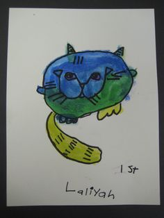 """Warhol inspired cats - We read """"Uncle Andy's Cats"""" as a reference."""