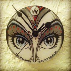 Williams Bride of Pin*Bot upcylced pinball wall clock @Kathleen Britto 1st anniversary is clocks.