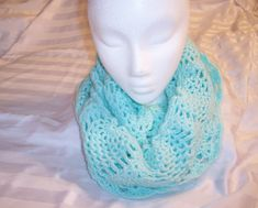 Hey, I found this really awesome Etsy listing at https://www.etsy.com/listing/176978276/infinity-scarf-green-crocheted-scarf