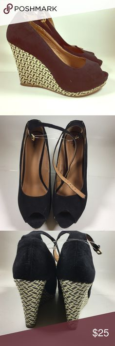 LIKE NEW Wedge heels by Mossimo SIZE 8 1/2 Cute Basket weaved wedge open toe shoes by Mossimo SIZE 8 1/2 Shoes Wedges