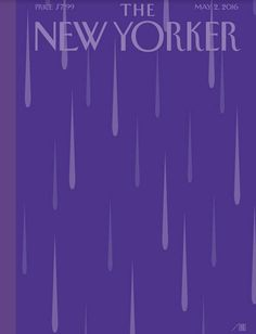 """Cover Story: """"Purple Rain,"""" by Bob Staake - The New Yorker/ i cant sleep tonight. - Tribute to the Death of Prince """"Purple Rain"""" The New Yorker, New Yorker Covers, Prince Purple Rain, One Republic, Purple Rain Cover, Capas New Yorker, Magazin Covers, Serato Dj, Purple Rain"""
