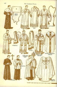 """11 Traditional Catholic Diagrams of the Faith from a Bygone Era"" by ChurchPOP Editor. Catholic priest vestments."