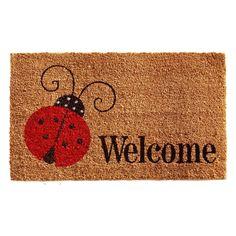 Home & More Ladybug Welcome Outdoor Doormat - 121431729