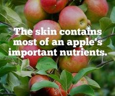 Eat the skin! Preferably organic apples though Fitness Facts, Health Fitness, The More You Know, Good To Know, Apple Facts, Healthy Tips, Healthy Recipes, Fun Fact Friday, Apple Health