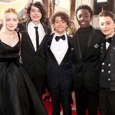 Stranger Things cast at Golden Globe Awards 2018!
