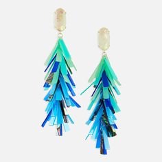 d4cdf4559a464 Shop Justyne Statement Earrings at Kendra Scott. With 67 acrylic pieces  hand strung in a blue mix shell - buy weightless statement earrings online.