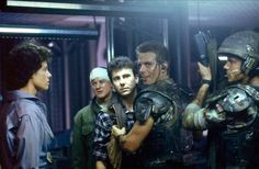 Before Prometheus even hit theaters this past summer we wondered: Will it create a shared universe between the Alien movies and Blade Runner? Alien Film, Alien 2, Predator Alien, Aliens 1986, Aliens Movie, 1980s Films, Sci Fi Films, James Cameron Aliens, Saga