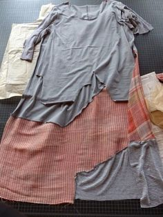 Clothing refashion in progress.